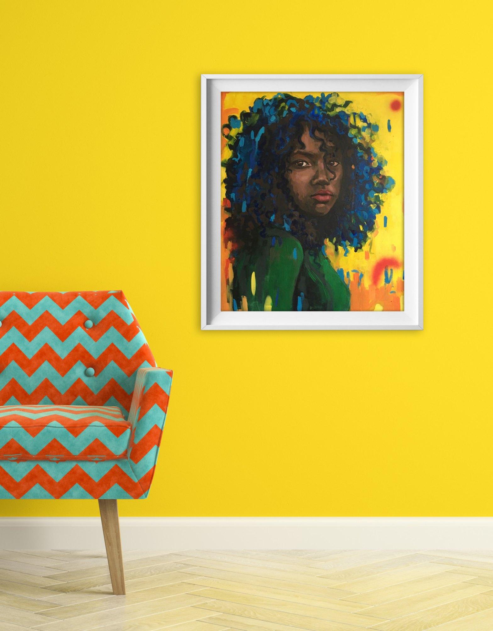 niepowtarzalny obraz w salonie